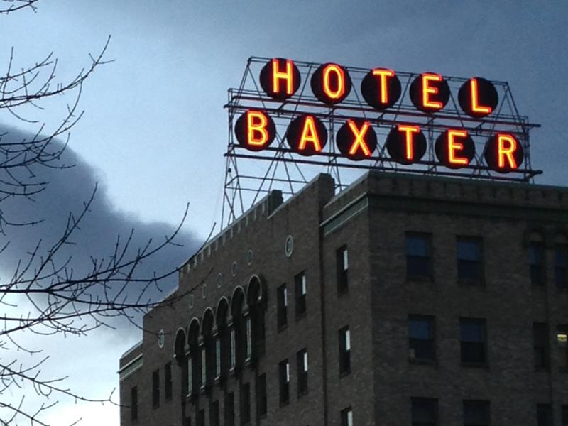 Baxter Hotel Sign
