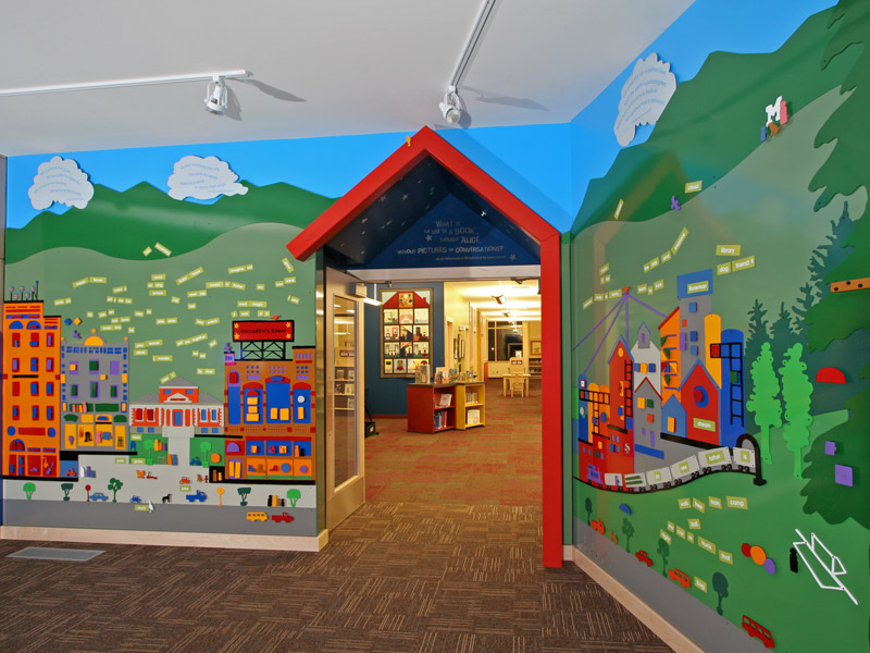 childrens library entrance